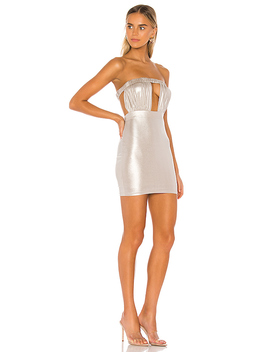Akira Mini Dress In Champagne by Superdown