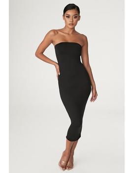 Emilee Strapless Midaxi Dress   Black by Meshki