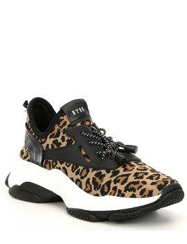 Myles Leopard Print Platform Dad Sneakers by Steve Madden