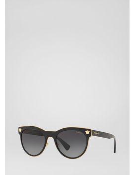 Black Medusa Charm Sunglasses by Versace