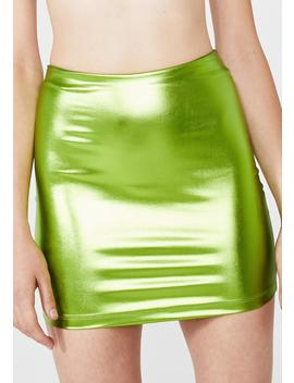 Lime Kimmy Skirt by Motel