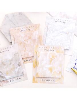 Marble Printed Memo Pad Cute Self Adhesive N Times Sticky Notes Stationery Sticker School Supplies Bookmark Label Escolar by Ali Express.Com