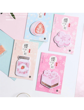 1pcs Memo Pads Sticky Notes Kawaii Sakura's Taste Paper Notepad Diary Scrapbooking Stickers Office School Stationery Notepads by Ali Express.Com