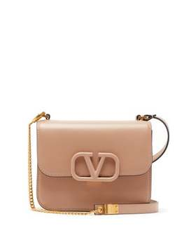 Small V Sling Leather Shoulder Bag by Valentino