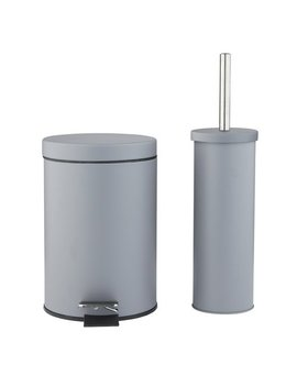 Argos Home Slow Close Bin & Toilet Brush Set   Flint Grey by Argos