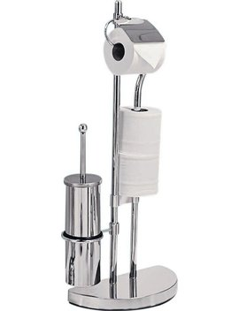 Argos Home Toilet Brush & Toilet Roll Holder   Chrome Plated by Argos