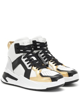 Exclusive To Mytheresa – B Ball High Top Leather Sneakers by Balmain