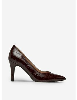 Wide Fit Burgundy 'drake' Court Shoes by Dorothy Perkins