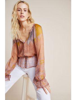 Morgana Silk Peasant Blouse by Mes Demoiselles