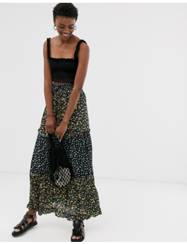 Only Mix Print Floral Maxi Skirt by Only