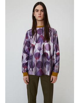 Football Print T Shirt Purple by Acne Studios