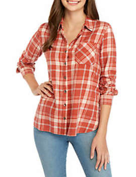 Plaid Woven Shirt by True Craft