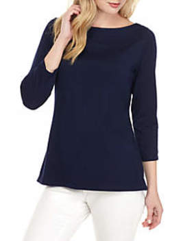 3/4 Sleeve Boat Neck Top by Crown & Ivy™