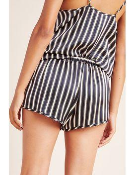 Violet & Wren Regency Striped Silk Shorts by Violet & Wren