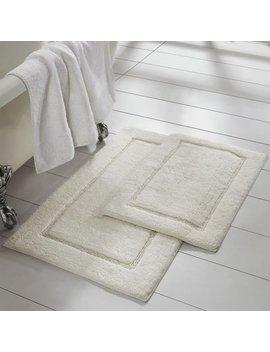 2 Pack Non Slip Soft Cotton Bath Rug Set by Pacific Coast Textiles
