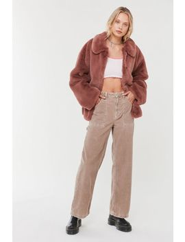 Uo Oversized Faux Fur Coat by Urban Outfitters