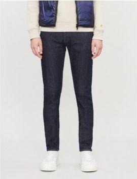 Logo Plaque Slim Jeans by Emporio Armani
