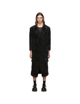 Black Gold Stitching Coat by Comme Des GarÇons Homme Plus