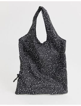 Paperchase Mono Spot Packable Shopper by Paperchase