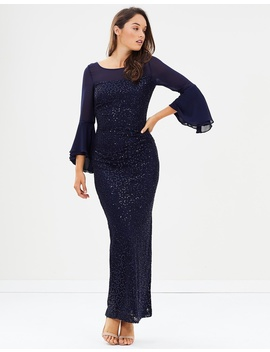 Amelia Bell Sleeve Gown by Montique