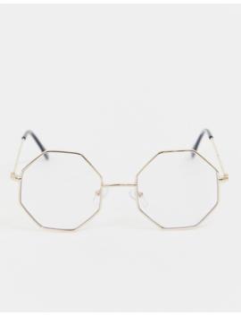 Очки в золотистой восьмиугольной оправе Reclaimed Vintage Inspired эксклюзивно для Asos by Reclaimed Vintage Inspired