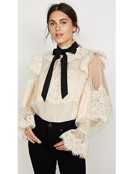 Espionage Corded Lace Blouse by Zimmermann