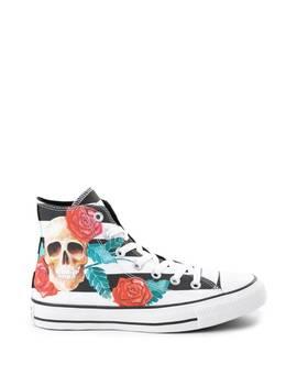Converse Chuck Taylor All Star Hi Skull Roses Sneaker by Converse