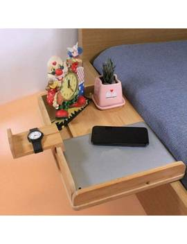 Bedside Hanging Shelf Bamboo Organizer Books Nightstand Clip On Beverage Holder by Ebay Seller