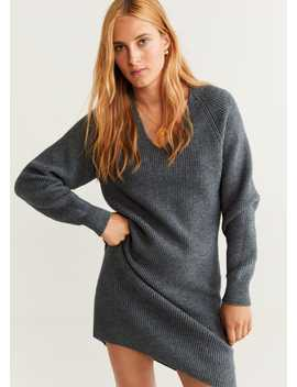 Chunky Knit Dress by Mango