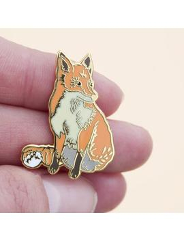 Fox Enamel Pin   Pin Badge   Hard Enamel Pin   Gold Enamel Pin   Lapel Pin   Nature Pin   British Wildlife   British Nature   Fox Badge by Etsy