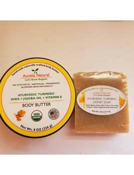 Skin Brightening Formula (Turmeric Soap 4.Oz + Turmeric + Shea Body Butter 4 Oz)   Skin Brightening Combo by Etsy
