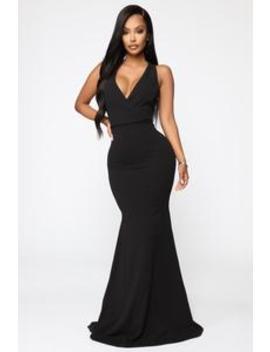 Linked To Greatness Maxi Dress   Black by Fashion Nova