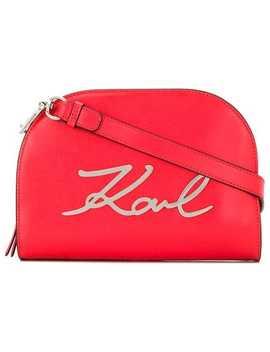 объемная сумка через плечо 'k/Signature' by Karl Lagerfeld
