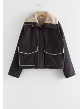 Oversized Faux Shearling Lined Jacket by & Other Stories
