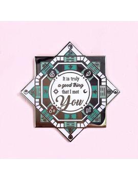 "Compass Board Cardcaptor Sakura Magic Circle Hard Enamel Lapel Pin   Syaoran Li   ""It Is Truly A Good Thing That I Met You"" by Etsy"