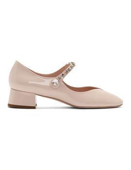 Pink Ballerina Mary Jane Heels by Miu Miu