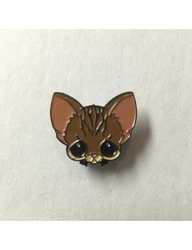 Sugar Fueled Pity Kitty Brown Tabby Cat Animal Lapel Pin Pop Surrealism Surreal Lowbrow Cute Creepy Black Big Eyes Eye Soft Enamel Pin by Etsy