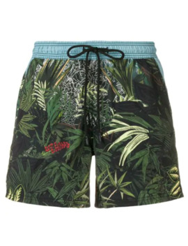 Tropical Print Swim Shorts by Etro