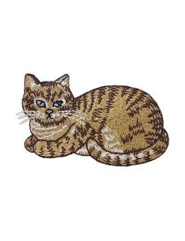 Id 3620 Tabby Cat Patch Striped Domestic Pet Kitten Embroidered Iron On Applique by Etsy