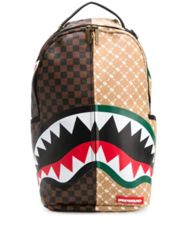 Paris Vs Florence Shark Print Backpack by Sprayground