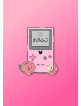 Usagi Inspired Gameboy Pin/ Acrylic Charm *Preorder* by Etsy