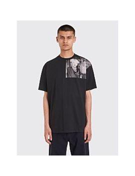 Raf Simons X Fred Perry Shoulder Print T Shirt Black by Très Bien