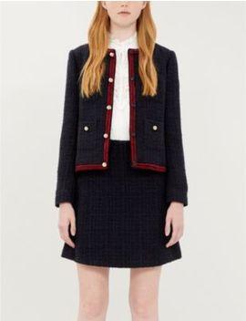 Virna Contrast Trim Bouclé Jacket by Claudie Pierlot