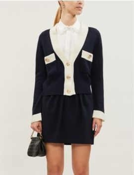 Mini Buttoned Wool Blend Cardigan by Claudie Pierlot