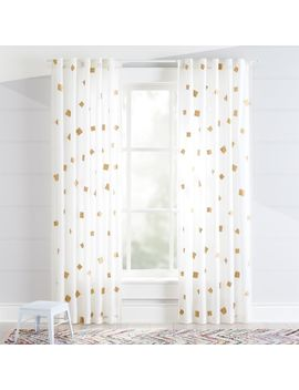 Gold Confetti Curtains by Crate&Barrel