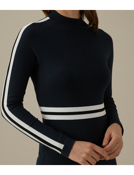 Striped Knit Dress by Kf157