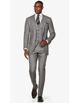 Washington Grey Houndstooth Suit by Suitsupply
