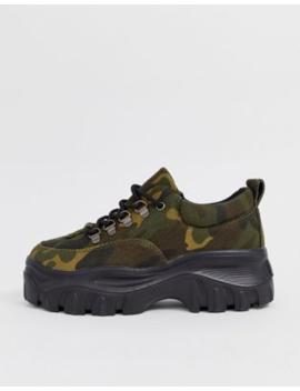 Public Desire   Biggie   Sneakers Con Suola Spessa Mimetiche by Public Desire