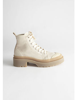 Canvas Platform Heeled Boots by & Other Stories