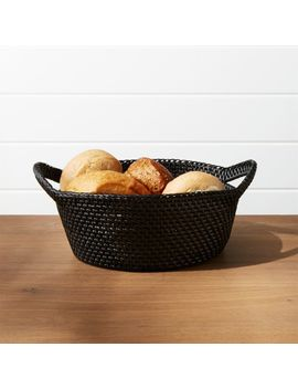Artesia Black Basket by Crate&Barrel